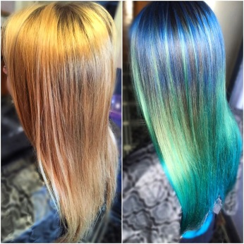 Before and after, no bleach used